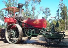 In town is one of the last remaining Best Steam tractors of course it's missing some parts and doesn't look like this but it has been taken care of by the city of Rexburg, Idaho. This is what it would look like completely restored
