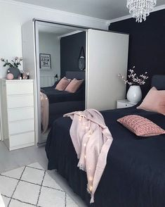 This is a Bedroom Interior Design Ideas. House is a private bedroom and is usually hidden from our guests. However, it is important to her, not only for comfort but also style. Much of our bedroom … Dream Rooms, Dream Bedroom, Home Bedroom, Girls Bedroom, Bedroom Wall, Master Bedroom, Bedroom Black, Bedroom Inspo, Bedroom Themes