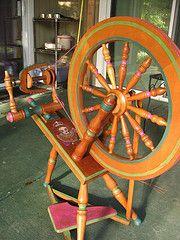 Merrie's Elizabeth Wheel (PrincessFroglips) Tags: wheel painting elizabeth lace painted queen spinning crown ashford refinishing merrie refinshed