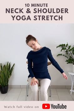 Yoga Sequence For Beginners, Yoga Flow Sequence, Fitness Workout For Women, Yoga Fitness, Shoulder Yoga Stretches, Pilates, Yoga Facts, Yoga Movement, Chair Yoga