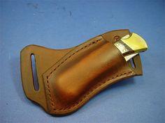 Custom Leather Knife Sheaths - Buck 110 sheaths. Page 1
