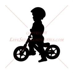BOY RIDING BIKE SILHOUETTE DECAL (Children Silhouettes)