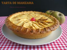 Tarta de Manzana, (Receta de mi Madre) Flan, Muffin, Pie, Breakfast, Desserts, Sweet Recipes, Pastries, Cooking, Apple Cakes