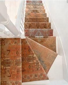 Staircase Runner, Stair Runners, Street House, Floor Art, Stairway To Heaven, Carpet Stairs, Carpet Runner, Rug Runner, Stairways