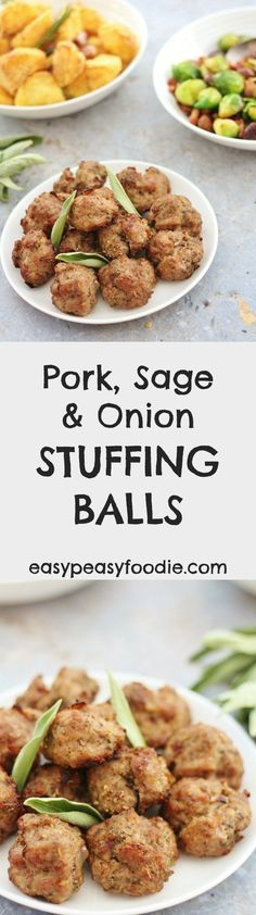 Need a delicious stuffing recipe that is free from gluten, dairy, egg AND nuts? Then you have to try my easy peasy Pork, Sage and Onion Stuffing Balls! They are perfect to serve with roast turkey or roast chicken. Alternatively this Pork, Sage and Onion stuffing mix can be stuffed in the neck cavity of your bird, or cooked in a separate dish. Instructions for all 3 ways are given in the recipe. by @easypeasyfoodie  #brillblogposts #stuffingballs #glutenfree #dairyfree #christmas…