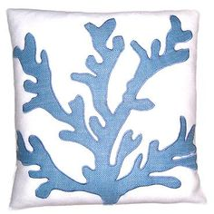Wedgewood Jute Coral Pillow from Mecox