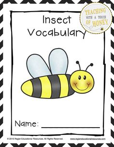 "$ Develop your students' vocabulary skills with tiered insect vocabulary booklets that match their learning needs! The ""Insect Tiered Vocabulary Booklets"" package is aligned with the common core and contains three different versions of the vocabulary booklet."