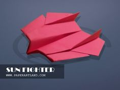 How to make an AMAZING paper plane that flies Fast and Far | Sun Fighter...