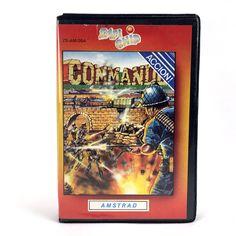 COMMANDO / ESTUCHE ZAFIRO - ZAFI CHIP - ELITE / ESPAÑA 1986 AMSTRAD CPC CASSETTE