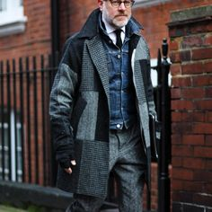 http://chicerman.com  billy-george:  Bruce Pask  Spotted at London Collection Mens  Photo via Shooting.People  #streetstyleformen