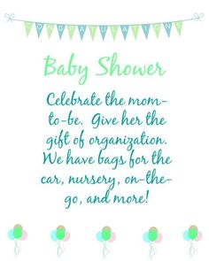 Host a Thirty-One Baby Shower #babyshower #31gifts www.LynseysBags.com