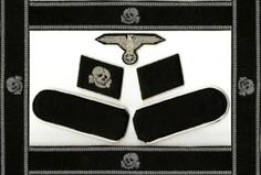 SS TOTENKOPF WAFFEN SS COLLAR TABS CUFF TITLE PATCHES SHOULDER BOARDS EAGLE INSIGNIA PRICE $55