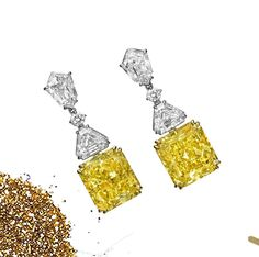 """Art of Jewels on Instagram: """"""""Women should never go without earrings. Passing on them is an opportunity missed."""" - Jennifer Lopez // Radiant Fancy Intense Yellow…"""" 4 Diamonds, Jennifer Lopez, Opportunity, Fancy, Jewels, Yellow, Earrings, Instagram, Women"""