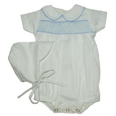 Alfie White Plain - Hand-smocked top (soft cotton lining to inside of smocking) popper fastening to bottom with button fastening at back. Available in sizes and months. White Plains, Smocking, Children, Kids, Rompers, Button, Dresses, Fashion, Young Children