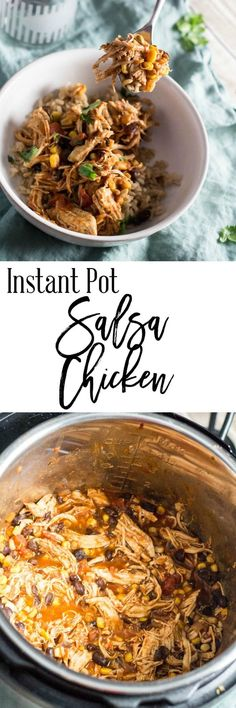 If you need to dress up your typical week night meal, try this Instant Pot Salsa Chicken recipe.  It's delicious, simple to make and is a one pot meal through the Instant Pot.  It's also healthy and only 8 SmartPoints per serving on Weight Watchers. via @dashofherbs