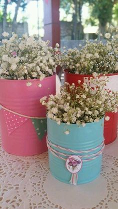 Baby Shower Ideas for Girls and Boys. Baby shower decorations and baby shower . Horse Birthday, Cowgirl Birthday, Cowgirl Party, Deco Floral, Art Floral, Tin Can Crafts, Kids Crafts, 3rd Birthday Parties, 2nd Birthday