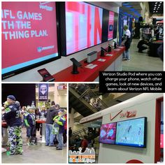 Verizon Studio Pod - Seattle Seahawks  Verizon Experience at Touchdown City, CenturyLink Field #VZWBuzz #MoreSeattle ad Seattle