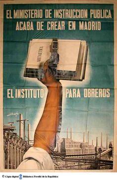 Spain - 1936-39. - GC - poster - El Ministerio de Instrucción Pública acaba de crear en Madrid el Instituto para obreros :: Cartells del Pavelló de la República (Universitat de Barcelona)