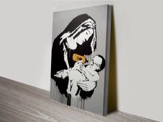 We have a collection of more than 60 great Banksy Art Prints, these prints of the graffiti artworks include many of his most famous art such as Balloon Girl Banksy Canvas Prints, Banksy Artwork, Canvas Wall Art, Wall Art Prints, Banksy Artist, Artist Wall, Canvas Prints Australia, Custom Art, Online Art Gallery