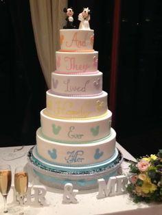 Disneybwedding cake, I love it!!!!!!!!!