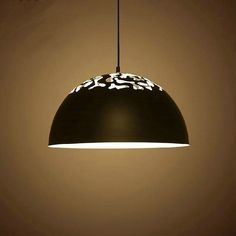 79.26$  Buy now - http://alicww.worldwells.pw/go.php?t=32734374744 - Nordic home hollow dinning room pendant light white color black color home decoration lighting fixture free shipping 79.26$