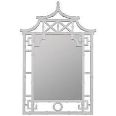 "Cooper Classics Shing 28 1/2"" x 42"" Pagoda Wall Mirror - #1G302   www.lampsplus.com"