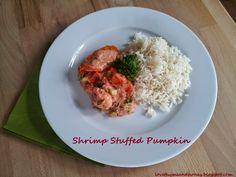 Shrimp Stuffed Pumpkin | http://lovethymeandhoney.blogspot.com