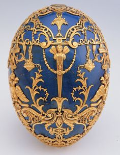 Fabergé | Imperial Czarevich Lapis lazuli Easter Egg, 1912