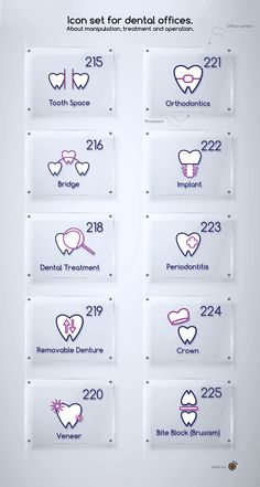 Icon set for dental offices *** Get a free teeth whitening powder, link in bio! @beautycharcoal