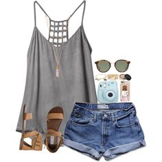 A fashion look from April 2016 by leawhite featuring RVCA, Abercrombie & Fitch, Steve Madden, Tiffany & Co., Alex and Ani, River Island, Yves Saint Laurent, Cas...