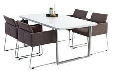 STEGE L160 hvit + 4 LINTRUP grå | JYSK