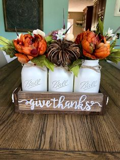 A personal favorite from my Etsy shop https://www.etsy.com/listing/537976480/fall-mason-jar-centerpiece-fall-mason