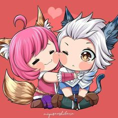 Nana x Harith . Looks like Harley and Cyclops got a new challenger. Bang Bang, Bear Wallpaper, Couple Wallpaper, Screen Wallpaper, Anime Couples Drawings, Cute Anime Couples, Kawaii Chibi, Cute Chibi, Miya Mobile Legends
