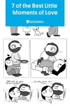 Little Moments of Love by Catana Comics. | Read more relationship comics on GoComics.com Catana Comics, Funny Koala, Relationship Comics, Funny Socks, Happy Socks, Cute Comics, Derp, Relationships Love, Good Mood