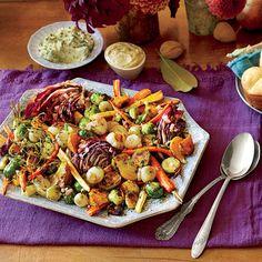 Roasted Vegetable Salad with Apple Cider Vinaigrette