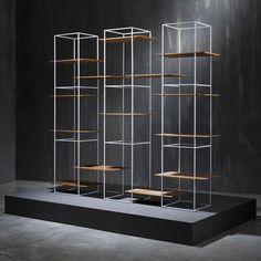 Ron Gilad designs shelves that seem to float in metal frames