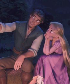 TANGLED I love love this movie! and I will list my fav characters egugine, Rapunzel, pascel, maximus!!! hehe <3 I also love how even though they first met they always protect each other!! Like how Flynn looks at Rapunzel and how when being chased through the passage Flynn pushes her behind him so she will be safe:)