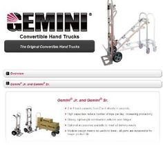Magliner Gemini Senior 2 In 1 Convertible Hand Truck with Pneumatic Wheels by Magliner. $279.00