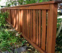 Craftsman Fence provided by Harwell Fencing Gates Inc. – Los Angeles Santa Monica 90403 - All For Garden Backyard Fences, Garden Fencing, Fenced In Yard, Yard Landscaping, Landscaping Ideas, Patio Fence, Garden Bed, Cedar Fence, Fence Gate