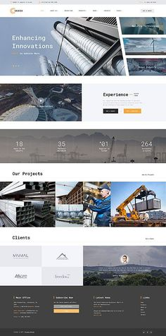 Industrial Most Popular website inspirations at your coffee break? Website Design Inspiration, Great Website Design, Modern Website, Website Ideas, Design Food, Graphisches Design, Web Design Trends, Design Ideas, Design Websites