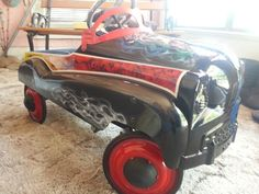 Pedal car custom airbrush