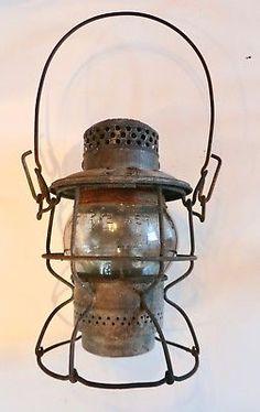 Vintage-Adlake-Kerosene-Lantern-Adams-amp-Westlake-Railroad-Barn-Lantern-NYCS