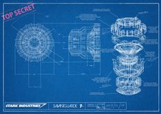 Some blueprints I whipped up as part of a Christmas gift for my friend. I designed and built an Arc reactor in design and built it for real o.