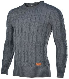 Superdry Jacob cable knit. A cable knit with a long hem. I liked it so much that I bought this in navy & burgundy.