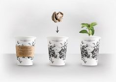 Seeds of Truth Coffee Cups Create Herb Gardens Instead of Waste #lifestyle #trends trendhunter.com