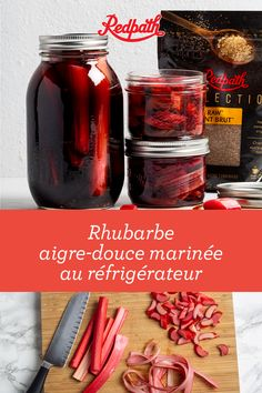 Refrigerator Sweet and Spicy Pickled Rhubarb Rhubarb Recipes, Sweet And Spicy, Sweet Sweet, Fermented Foods, Spring Recipes, Other Recipes, Food Inspiration, Pickling, Canning Recipes