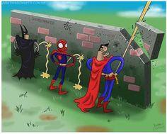 Batman, Spiderman y Superman