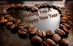 wishing you a happy new year coffee bean art my coffee coffee