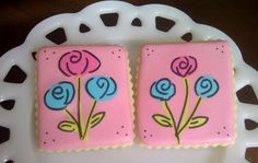 Pretty flower cookies...