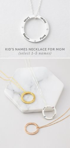kids' Names Necklace For Mom • Mother and child necklace • Circle necklace with name engraved • Personalized Mother Necklace with Kids' Names • Silver Necklace with kid's names • Personalized grandma jewelry • great gifts for mother • mother's day gifts • gift for mom from daughter • gift for mother in law • unique gifts for MIL • grandmother gifts • grandmother gift ideas • cool gifts for mom